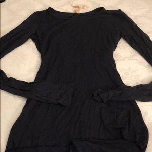 Women's Bailey 44 Sz XS navy long sleeve open back